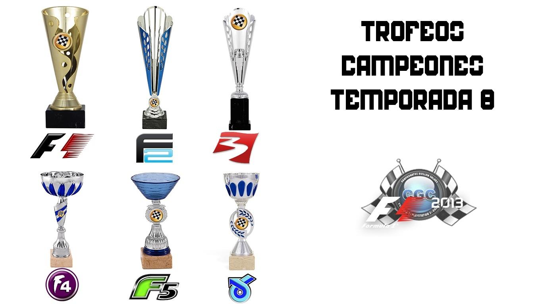 Los 6 campeones de la Temporada 8 tendrán su merecido premio Trofeo12