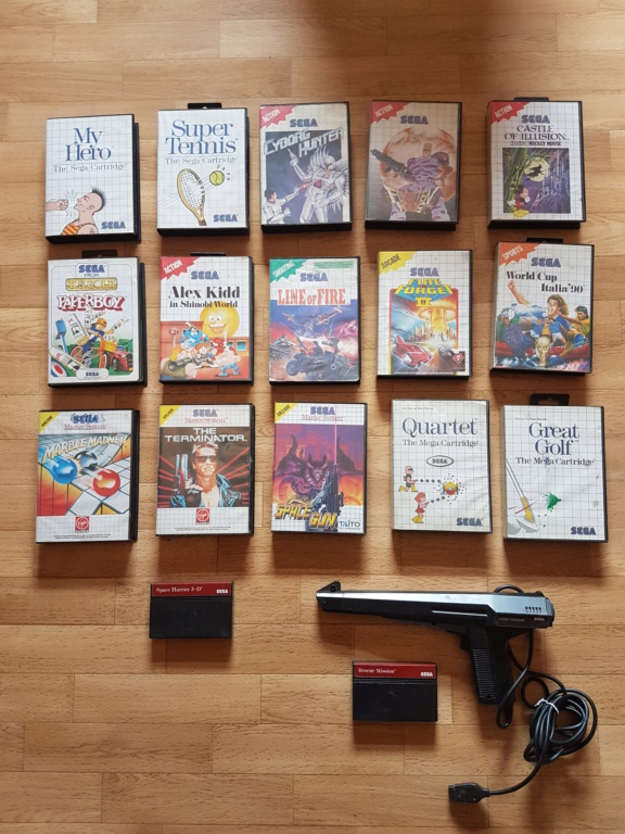 [vds] toute ma collec master system! 20190513