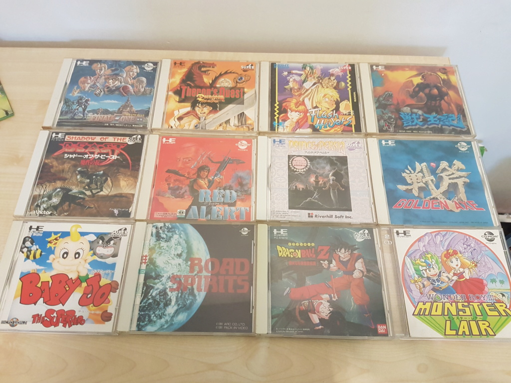 [vds] ma collec pc engine cd rom 20190612