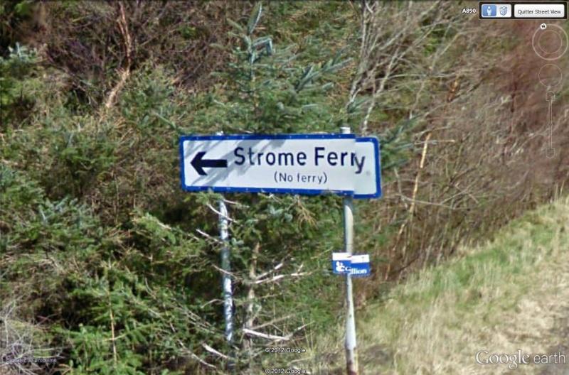 Stromeferry, Highlands, Ecosse : contrairement à ce que son nom indique Strome11