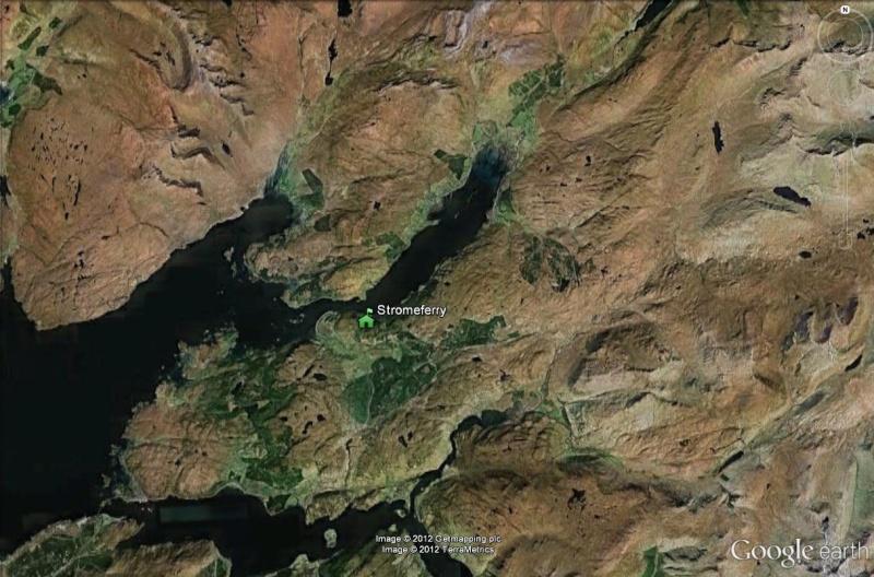 Stromeferry, Highlands, Ecosse : contrairement à ce que son nom indique Strome13