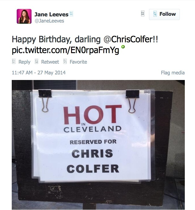 Chris Colfer Tweets - Page 2 Twitte11