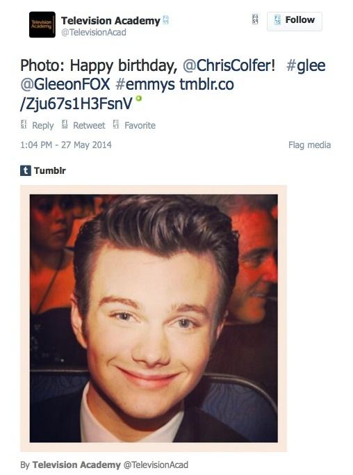 Chris Colfer Tweets - Page 3 Twitte14