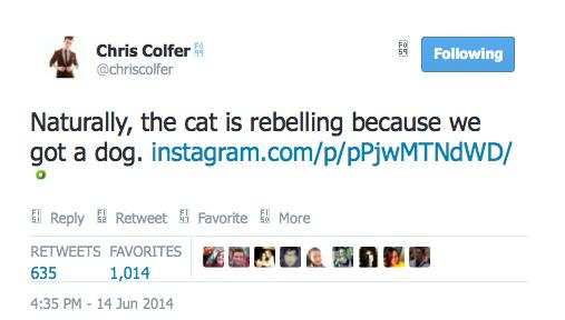 Chris Colfer Tweets - Page 3 Twitte17