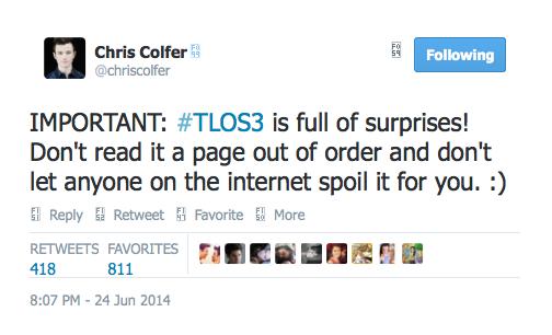 Chris Colfer Tweets - Page 5 Twitte21