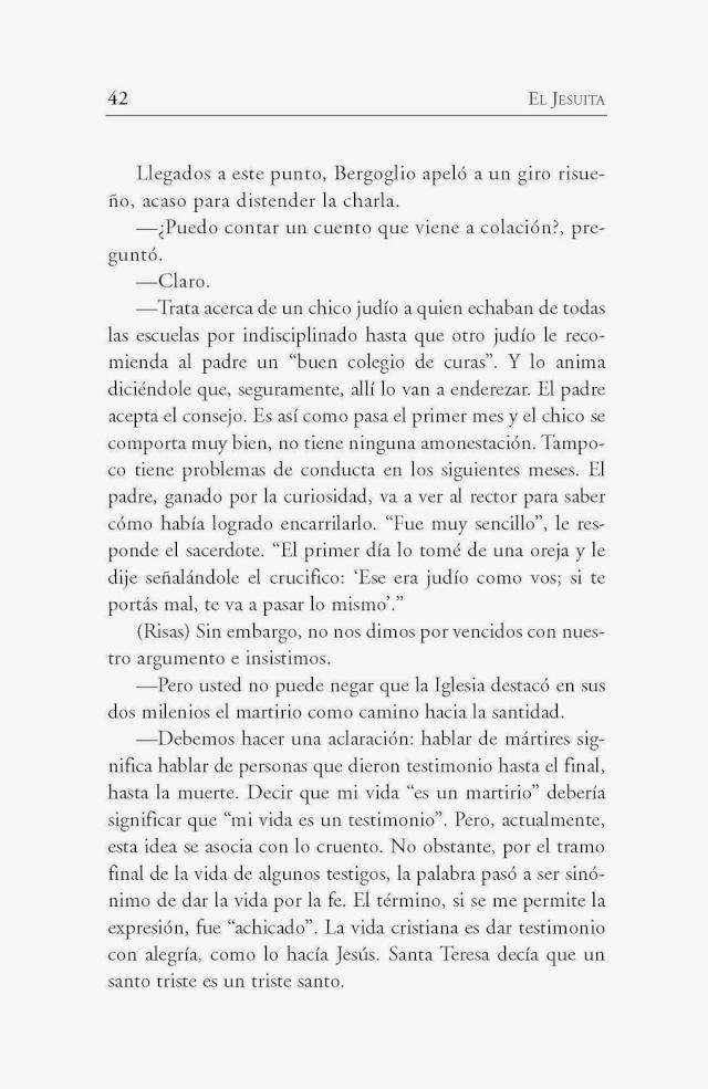 Bergoglio plaisante au sujet de la Crucifixion de Notre-Seigneur Libror11