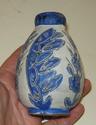 Blue glazed bud vase Dscn8233