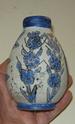 Blue glazed bud vase Dscn8234