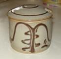 Slipware lidded pot signed JFM - James Mounter, Callander?  Dscn8821