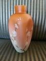 Victorian Satin Peach Burmese cased glass Vase 20140811