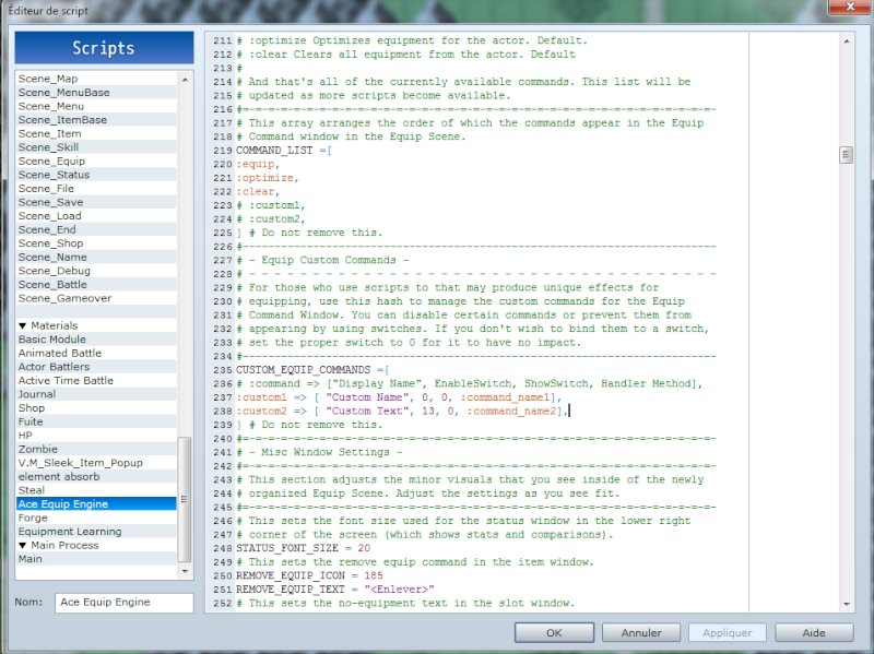 Régler la compatibiliter entre 2 scripts 110
