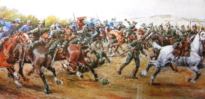La dernière charge de cavalerie en Europe . Charge10
