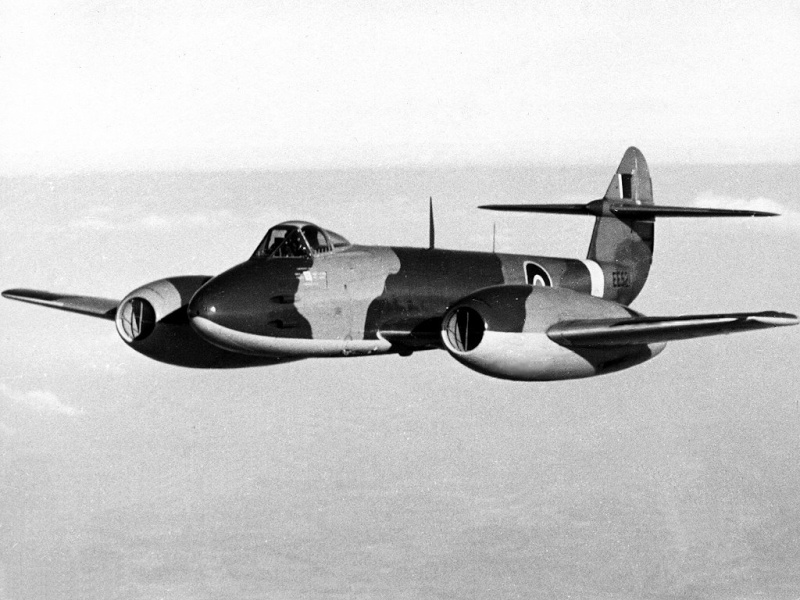 """Le """"Gloster Meteor"""" . Gloste10"""