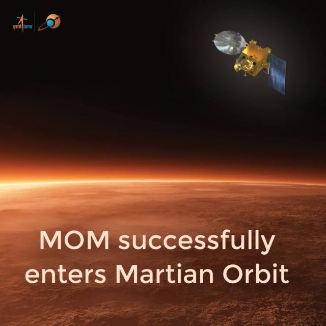 5 novembre 2013 - Mars Orbiter Mission (MOM) / L'Inde se lance à l'assaut de la planète rouge / Mission réussie 24 septembre 2014 15480310