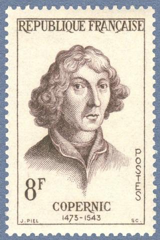 Philatélie spatiale France - 1957 - Nicolas Copernic et Isaac Newton 1957_110