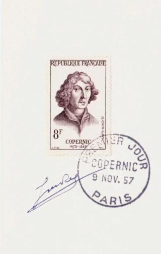 Philatélie spatiale France - 1957 - Nicolas Copernic et Isaac Newton 1957_111