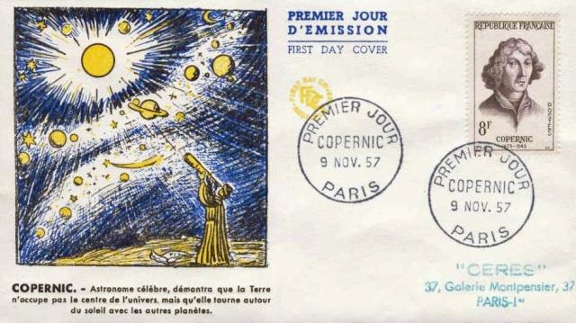 Philatélie spatiale France - 1957 - Nicolas Copernic et Isaac Newton 1957_112