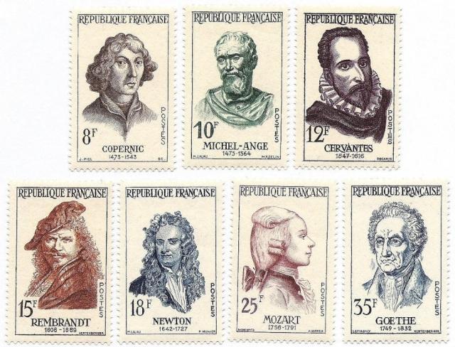 Philatélie spatiale France - 1957 - Nicolas Copernic et Isaac Newton 1957_s10