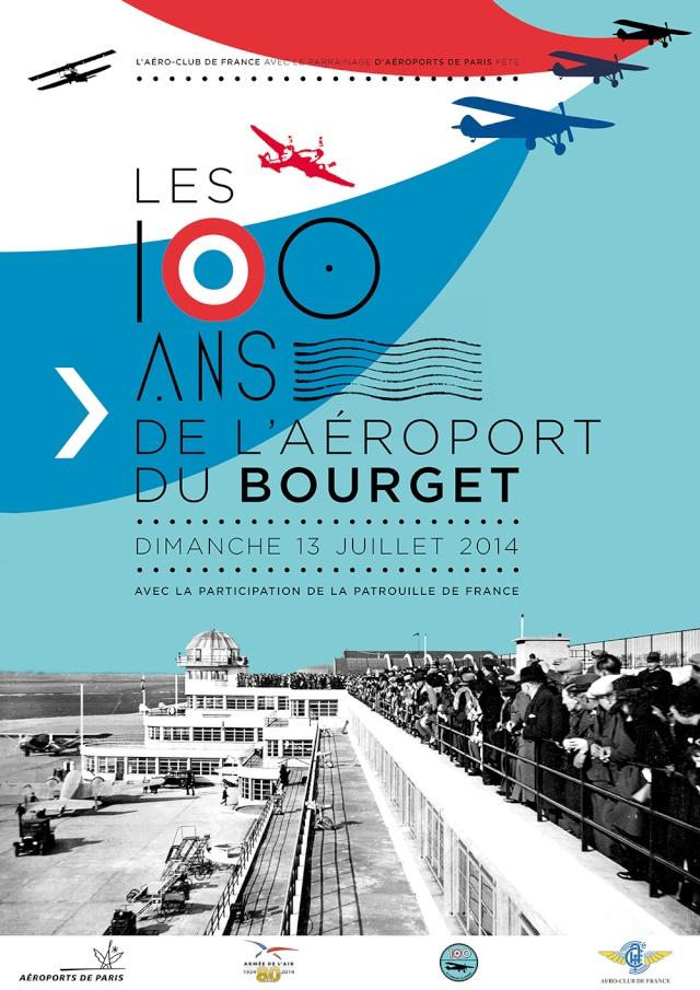 13 juillet 2014 - Meeting - Les 100 ans de l 'aéroport du Bourget Affich10