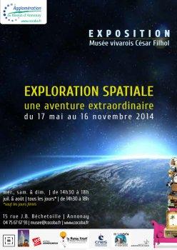 Exploration Spatiale, une aventure extraordinaire - Annonay (07) jusqu'au 16 novembre 2014 Affich11