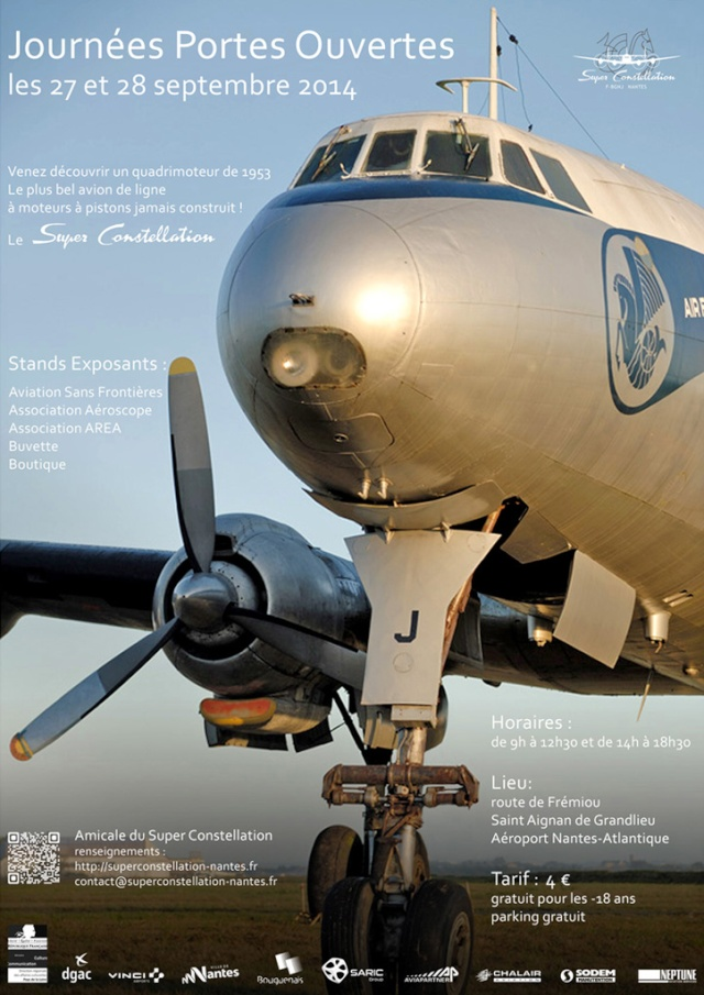 [Aviation] Super Constellation de Nantes - Journées Portes ouvertes 27 et 28 septembre 2014 Affich12