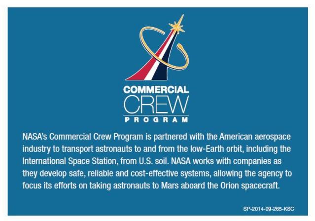 Trading Card NASA en ligne - Commercial Crew Program Cct_vu11