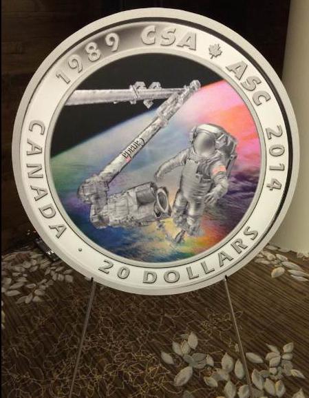 25 ème anniversaire de l'Agence Spatiale Canadienne / Émission d'une pièce de monnaie Cnada_11