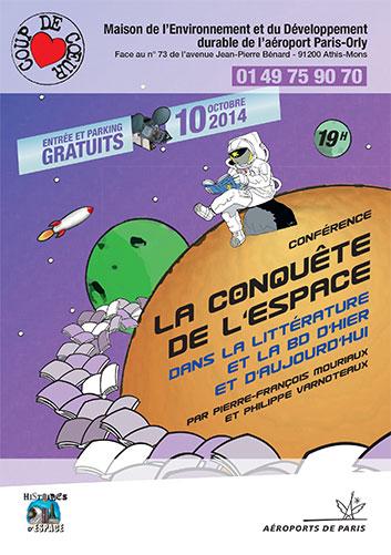 10 octobre 2014 - La conquête de l'espace dans la litterrature et la BD d'hier à aujourd'hui - Conférence à Orly (91) Conque10
