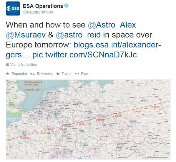 Vol spatial d'Alexander Gerst / Expedition 40 et 41 - BLUE DOT / Soyouz TMA-13M Esa10