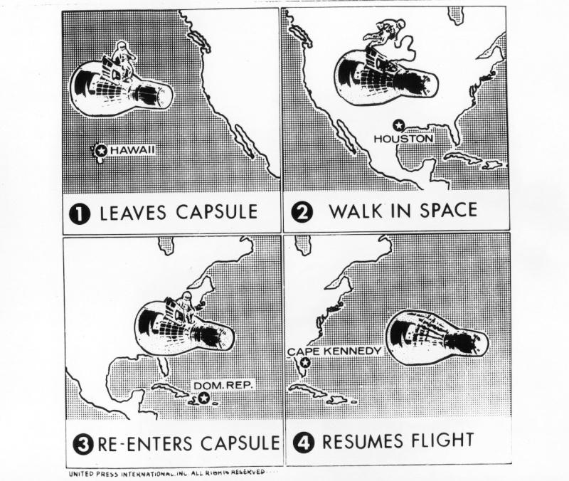 Gemini 4 - La mission - Rares Documents, Photos, et autres / 50 ans Première EVA américaine  Gemini22
