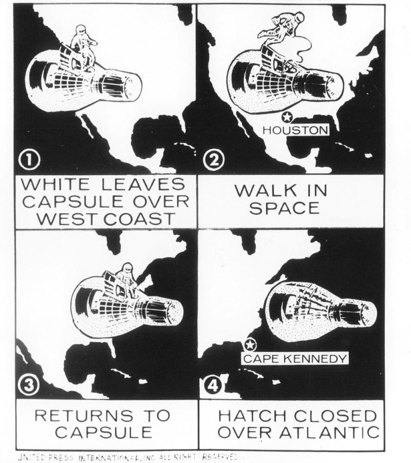 Gemini 4 - La mission - Rares Documents, Photos, et autres / 50 ans Première EVA américaine  Gemini23