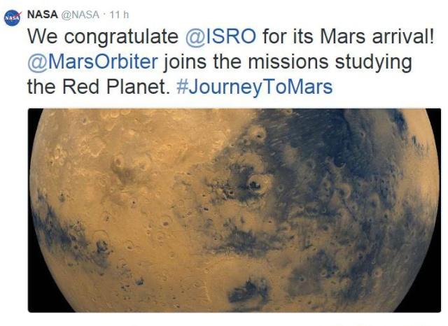5 novembre 2013 - Mars Orbiter Mission (MOM) / L'Inde se lance à l'assaut de la planète rouge / Mission réussie 24 septembre 2014 Nasa_m10