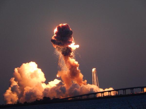 28 octobre 2014 - Lancement vaisseau ravitaillement Cygnus vers l'ISS The_ya11