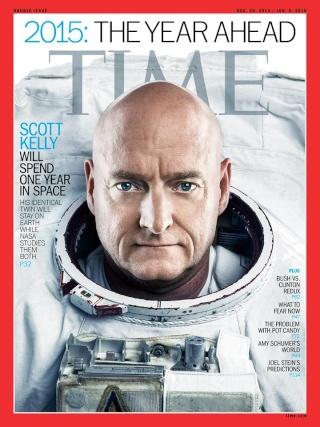 18 décembre 2014 : Présentation de l'équipage qui restera un an dans l'ISS à Paris Time-k10