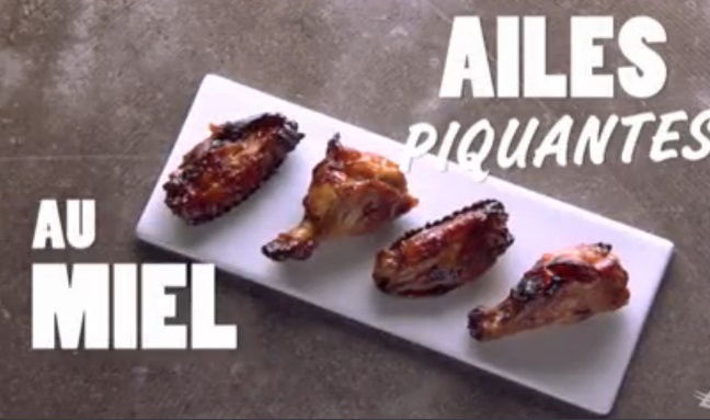 Ailes de poulet piquantes au miel de Charles Lafortune Sans_t18