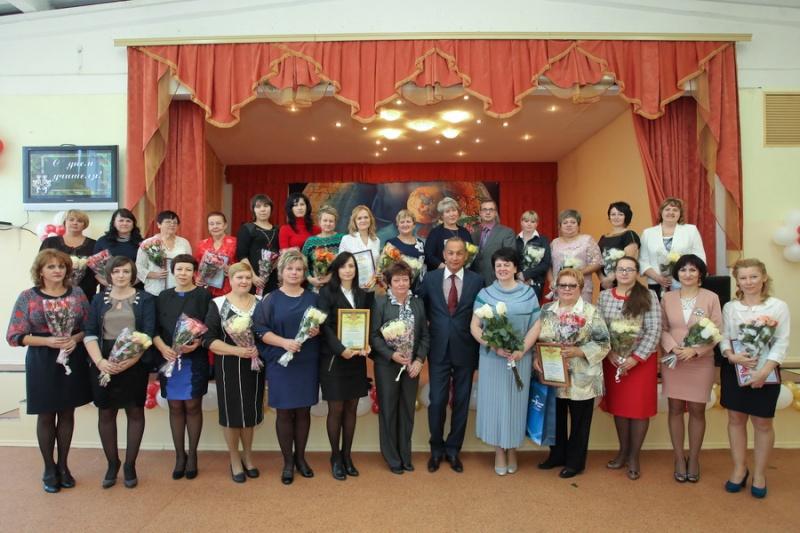 День учителя район отмечал в Дашковской школе  Teache11