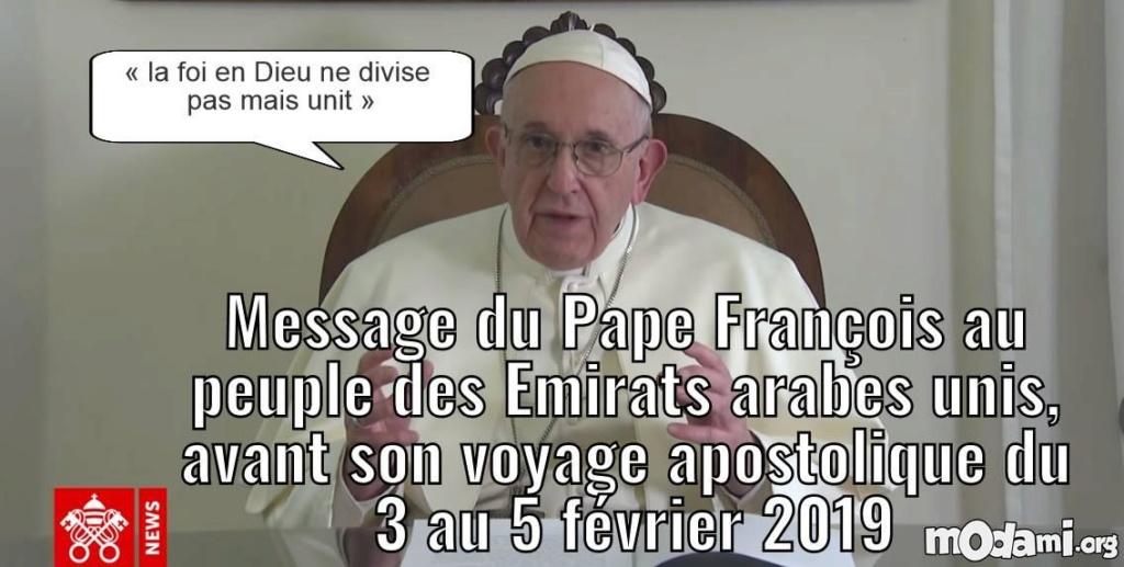 Emirats arabes : « la foi en Dieu ne divise pas mais unit » 82a1b10