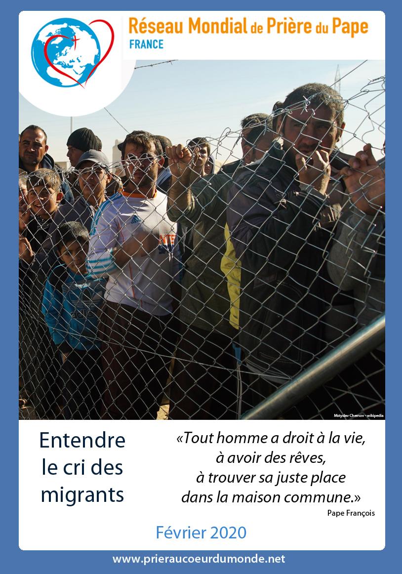 Février: le Pape appelle à prier pour les migrants et les victimes de traite Affich10