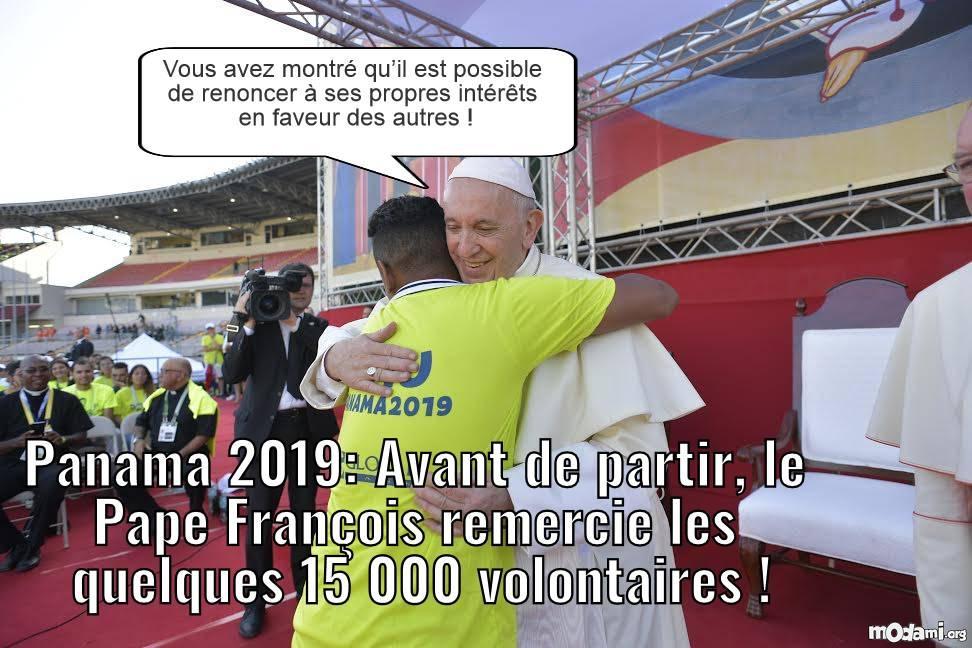 Panama 2019: le pape François remercie quelque 15 000 volontaires  Dedc210
