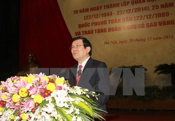 Chủ tịch nước: Hiện đại hoá quân đội để tự vệ Ttxvn_30