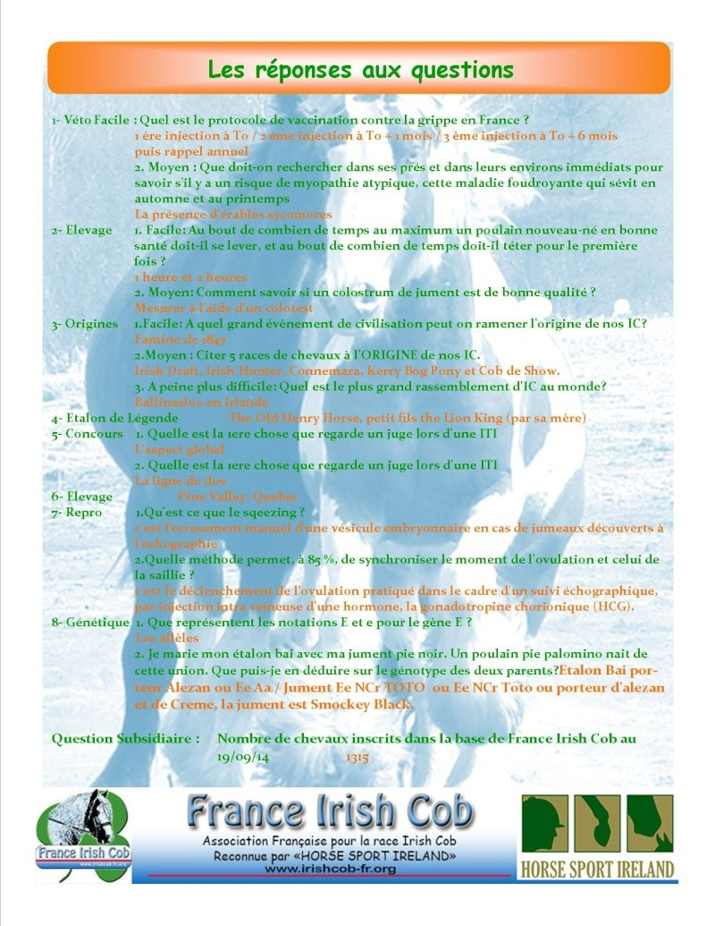 "Grand jeu avant le National - ""Culture Cob, but ...so so Irish ! Result11"