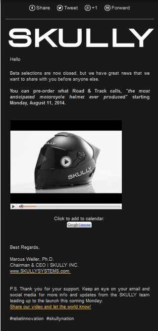 nouveau casque bientôt sur le marché le SKULLY P1 avec rétrovision - Page 2 Skukky10