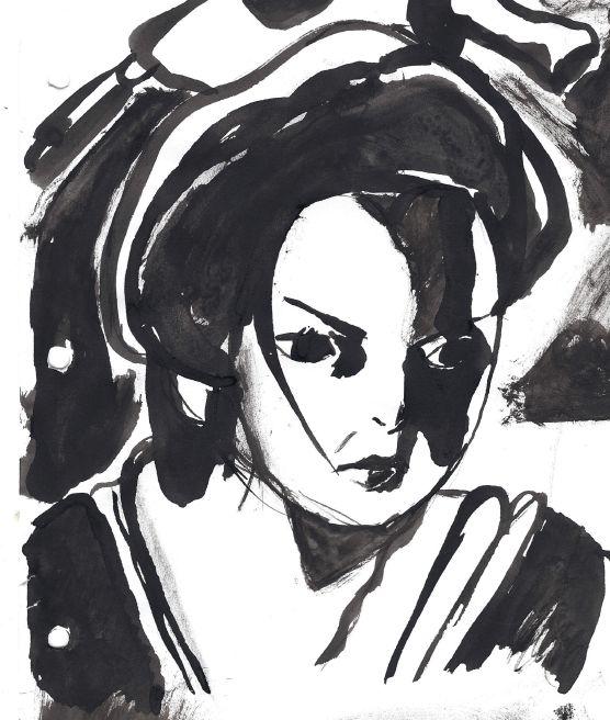 Galerie de dessins d'Erza Scarlet  Encre_11
