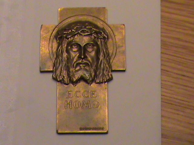 """Croix moderne - """"ecce homo"""" et visage du Christ - Années 1950/60 Dsc00385"""