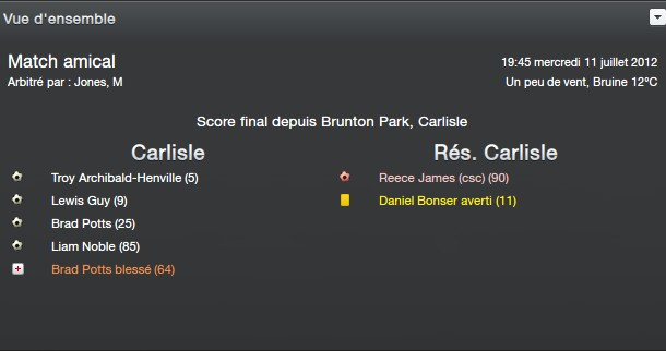 FM13 - Carliste United Matchr10
