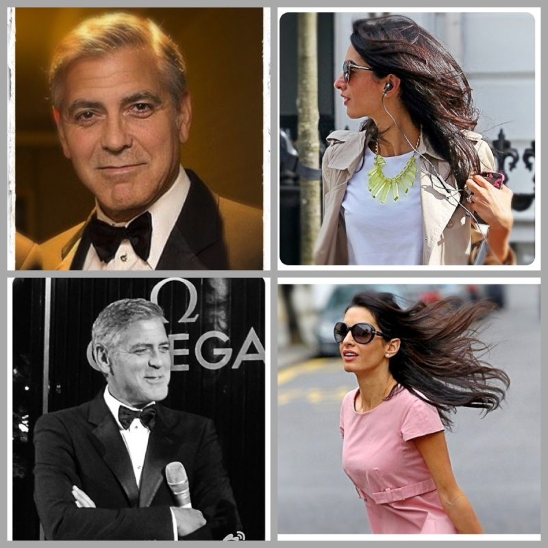 Photos: George Clooney with Amal Alamuddin Img_2313