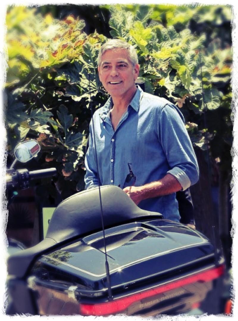 George Clooney and Rande Gerber at Cafe Habana Img_4010