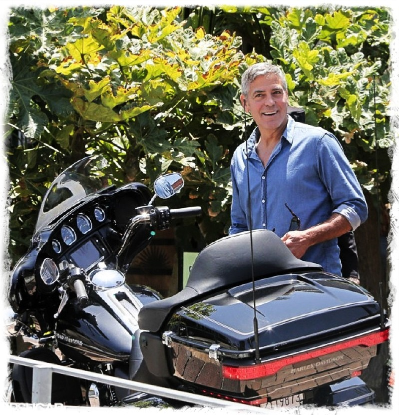 George Clooney and Rande Gerber at Cafe Habana Img_4011