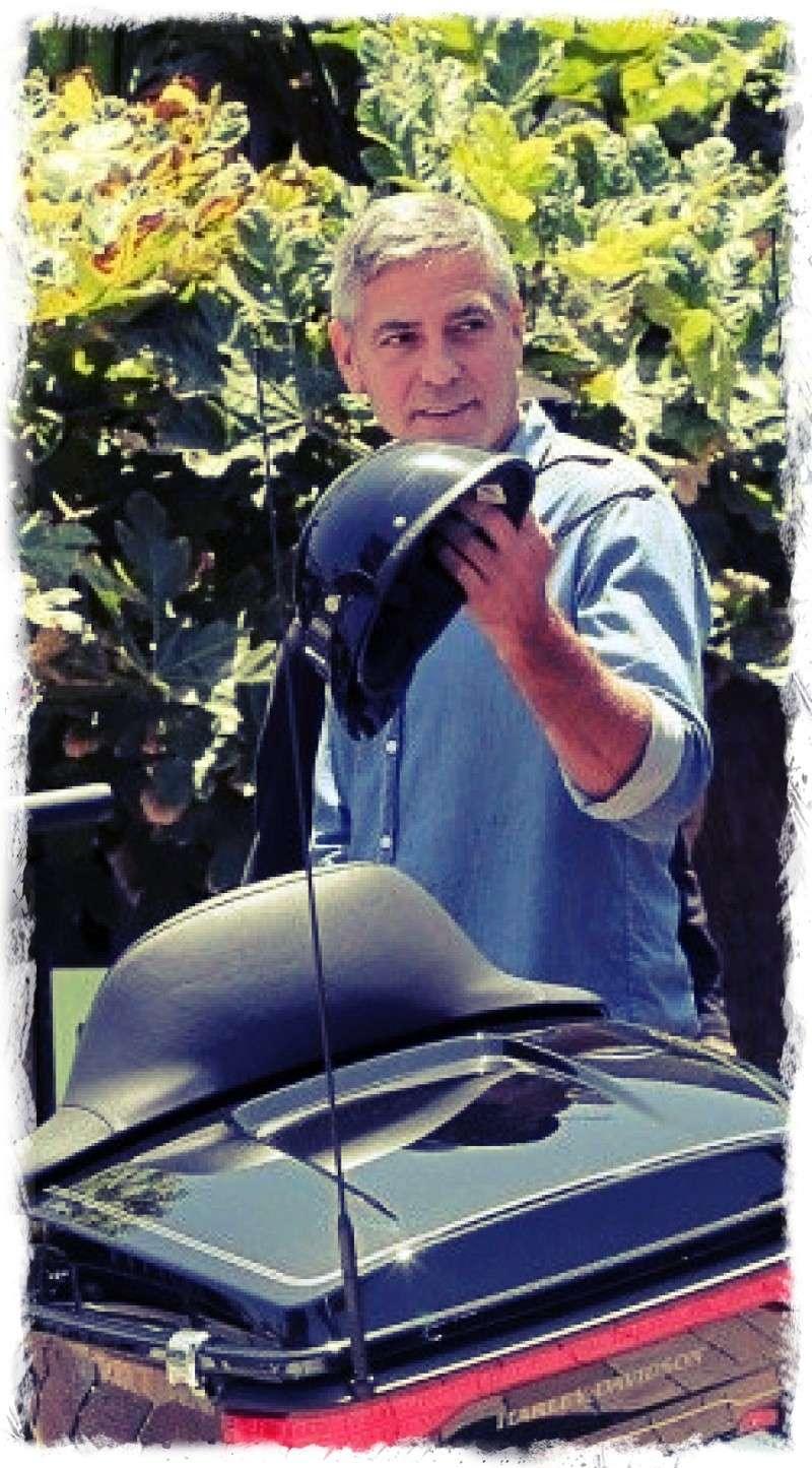 George Clooney and Rande Gerber at Cafe Habana Img_4013