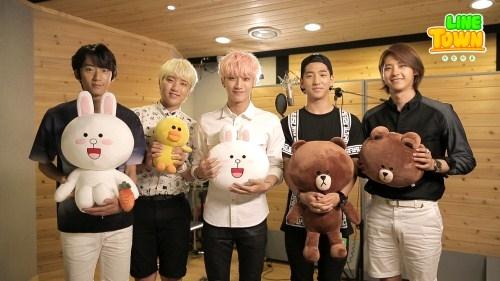 """[160412] LINE a choisi B1A4 pour chanter la chanson thème de leur dessin animé """"LINE TOWN"""" Tumblr12"""